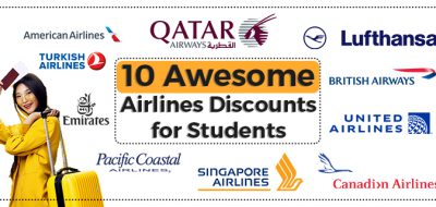 10 Awesome Airlines Discounts for Students