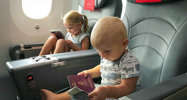 Help your child settle on the plane seats